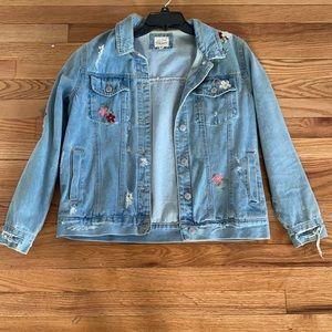 Light blue Jean jacket with design